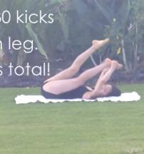 Leg lifts: 30 each leg