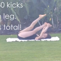 Leg lifts: 30 each leg